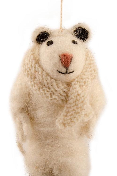 Felt Sheep with Scarf