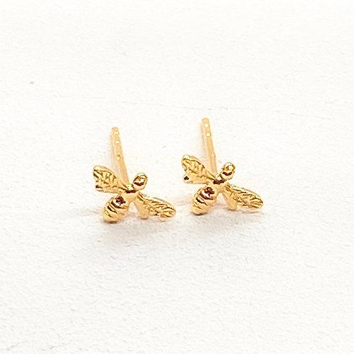 Beatrice Bee Gold Earrings
