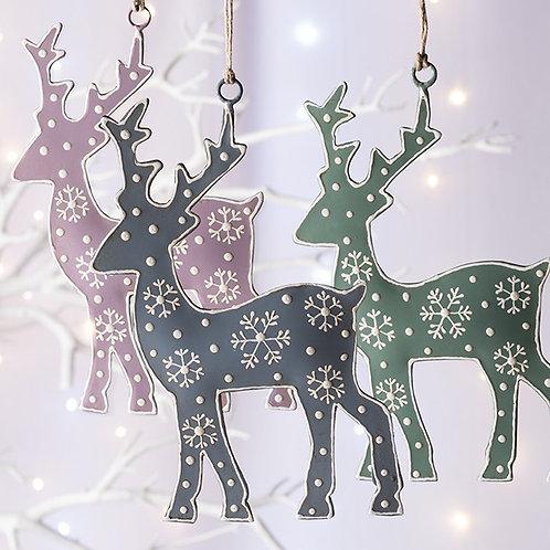 Pastel Hanging Reindeers
