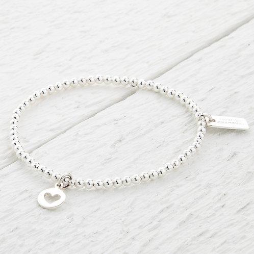 Naomi Silver Heart Bracelet