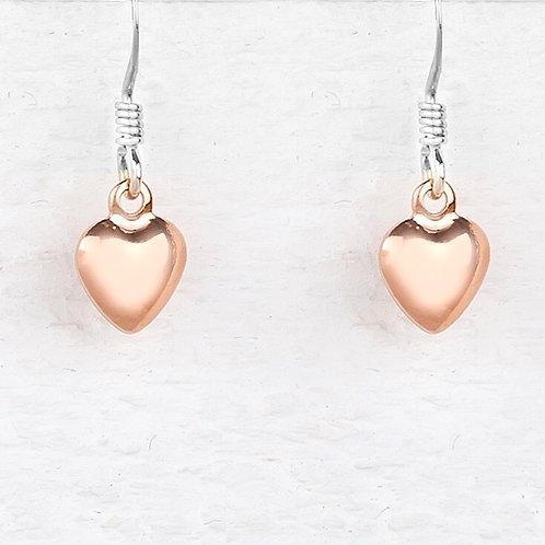 Jessica Rose Gold Heart Earrings