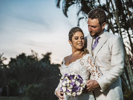 Casamento no pôr do sol
