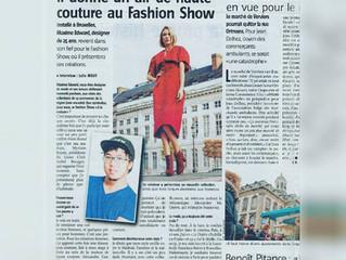 """""""Il donne un air de haute couture au fashion show"""""""
