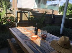 Stylish outdoor setting
