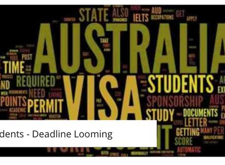 2017 Student Deadline Looming