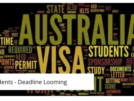 2017 Student Deadline Looming