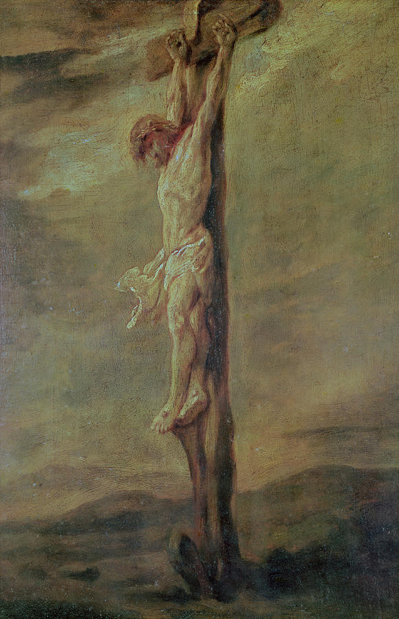 Christ On The Cross by Rembrandt