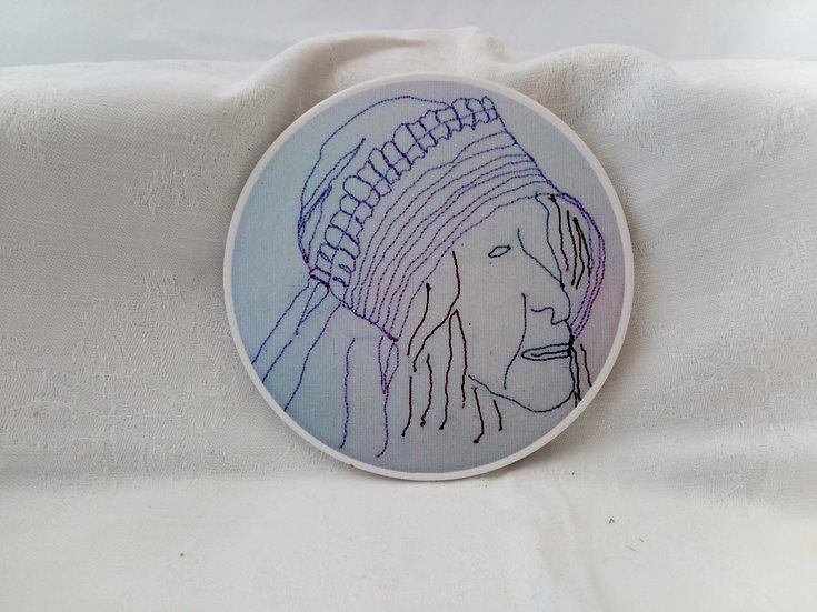 Circular Ceramic Coaster -  Dorothy