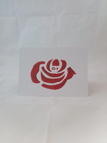 Rose Greetings Card