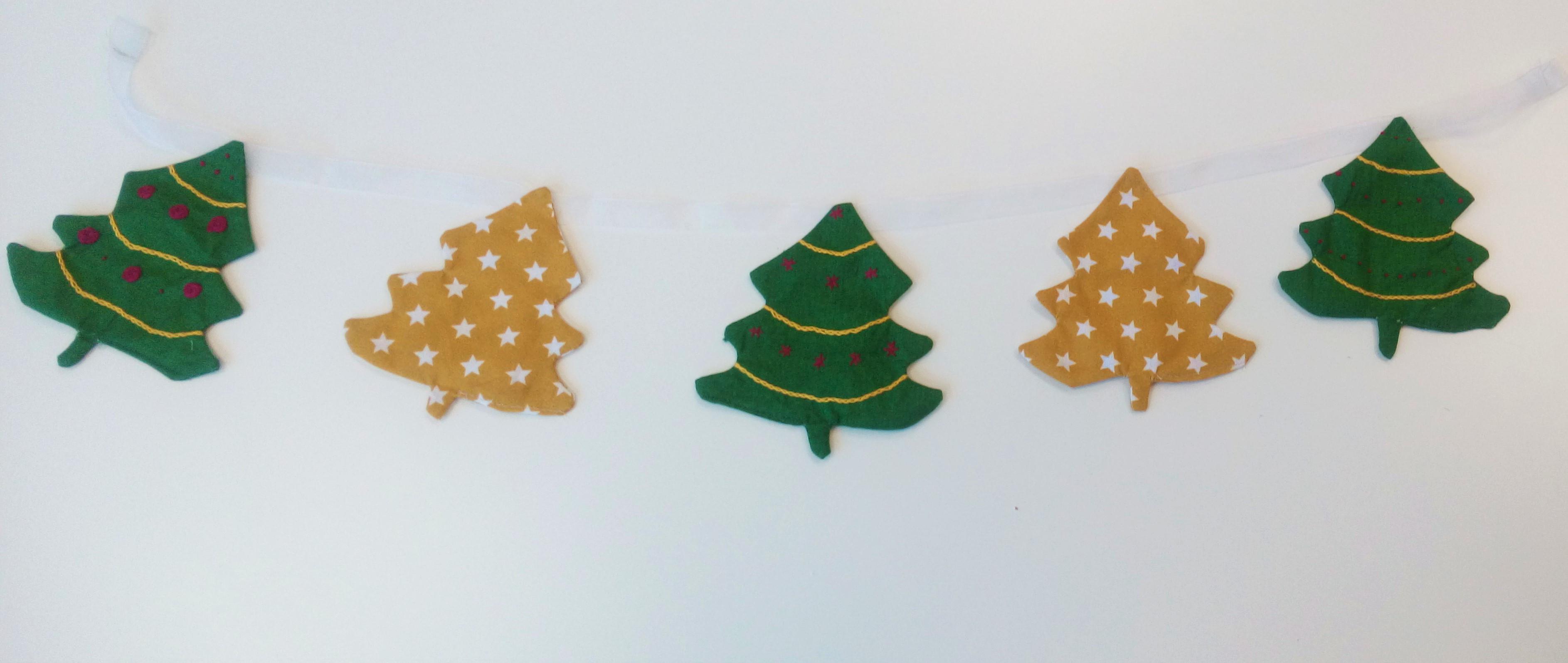 Embroidered Christmas Tree Garland