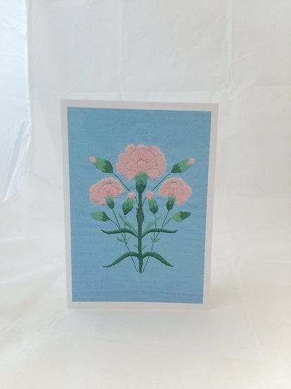 Pinks Greetings Card