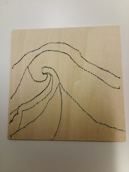Embroidered Balsa Squares