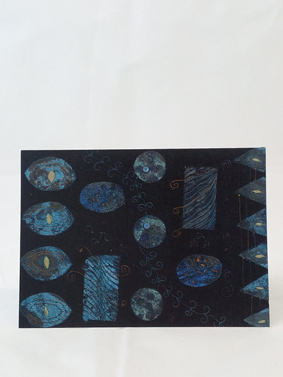 Blue Foils Greetings Card