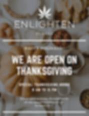 Enlighten Alaska will be open for Thanks