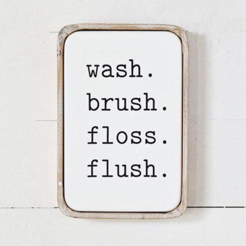 Modern Tin Bathroom Sign