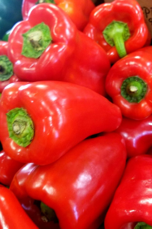 Red Peppers by the  pound