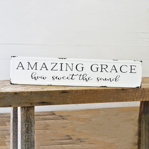 Amazing Grace Tin Sign
