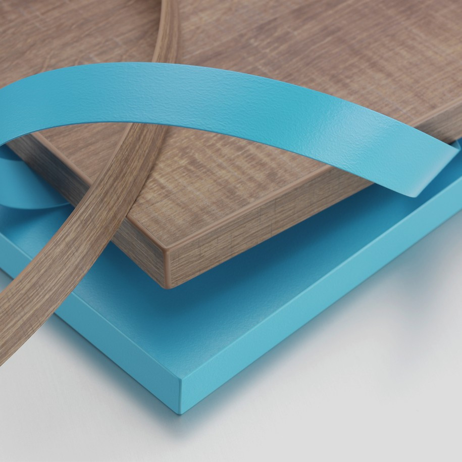 Edge Banding - edges covered with tape on mdf