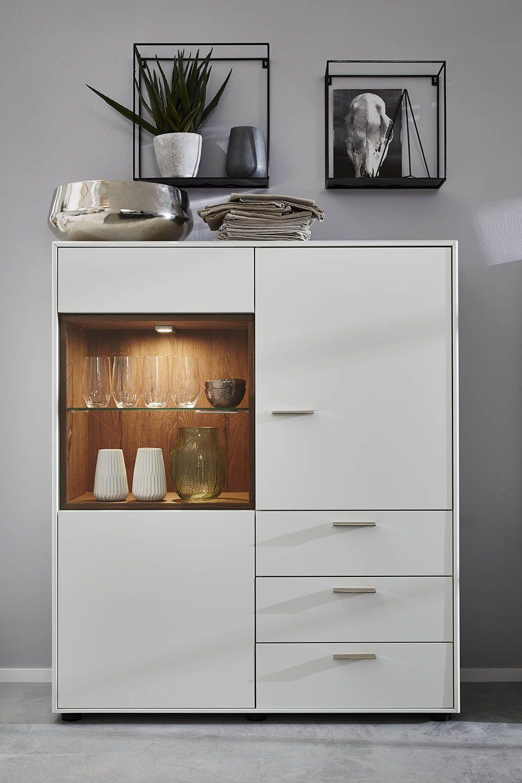 Medium height crockery unit with drawers