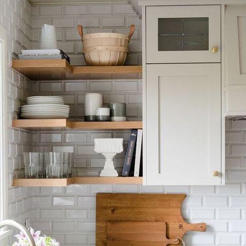 Corner shelves in Modular Kitchen