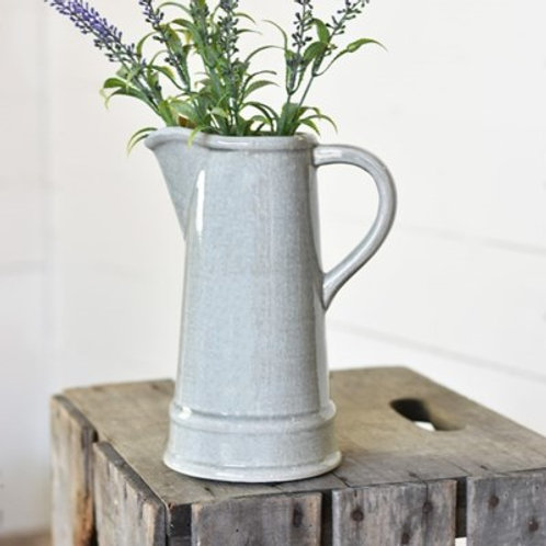 Grey Ceramic Pitcher