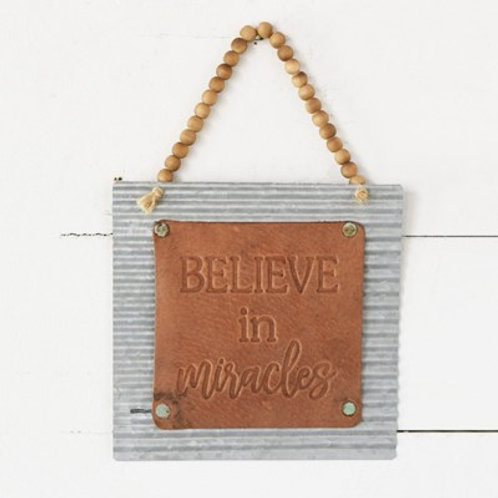 Small Leather/Tin sign