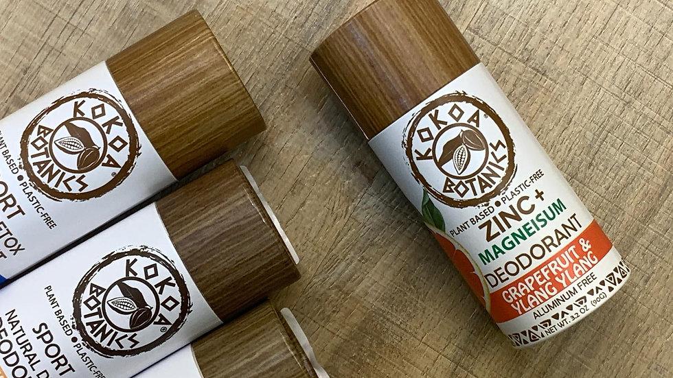 美國KOKOA BOTANICS 天然精油香體膏鋅+鎂 柚子及伊蘭伊蘭 GRAPEFRUIT & YLANG YLANG