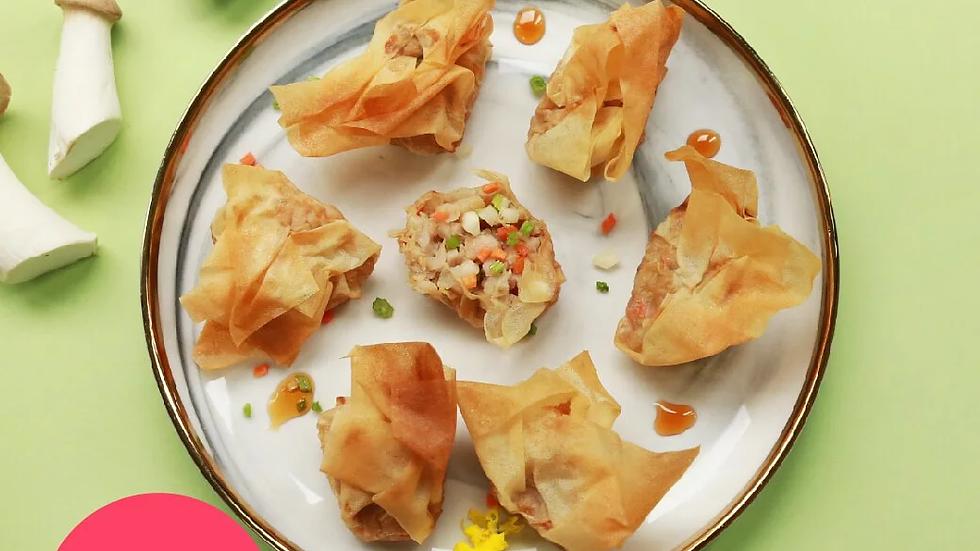 台灣 原味時代 低糖千張餃 新豬肉荸薺鮮菜 Dumpling OmiPork with Vegetable