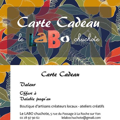 Carte Cadeau de 30€