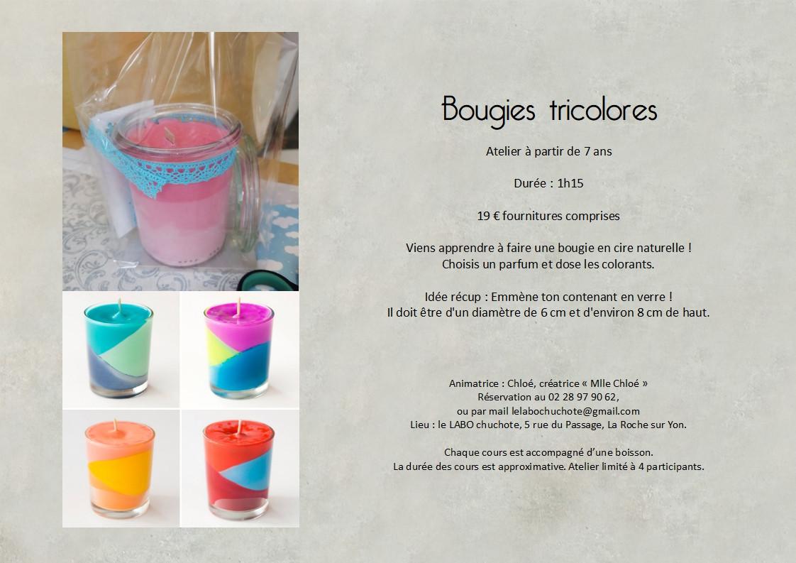 fiche atelier Bougie tricolore