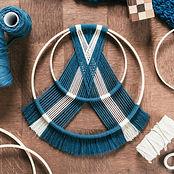 cercle bleu macramé Knotting Els