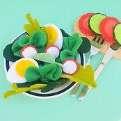 Dinette feutrine salade Saperlotte Lipopette
