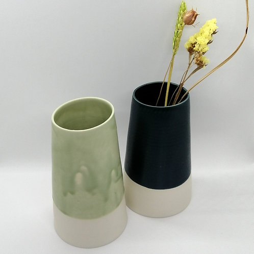 Grand vase en porcelaine
