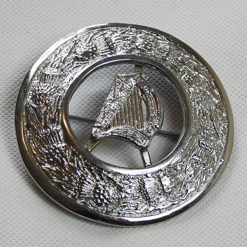 Scottish Highland Harp Plaid Brooch (Free Delivery)
