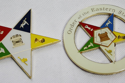 Set of Order of the Eastern Star Metal Stickers (Free Delivery)