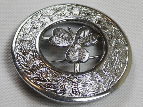 Scottish Highland Clover Plaid Brooch (Free Delivery)