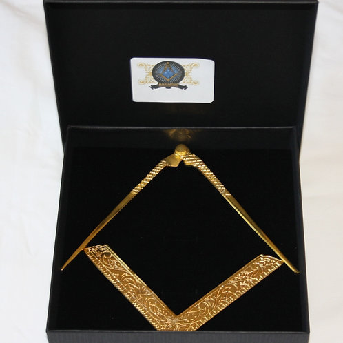 Gold Square & Compass Altar Set
