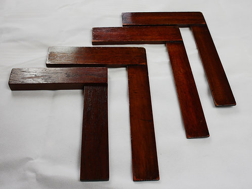 set of 4 Wooden Squares (Free Delivery)