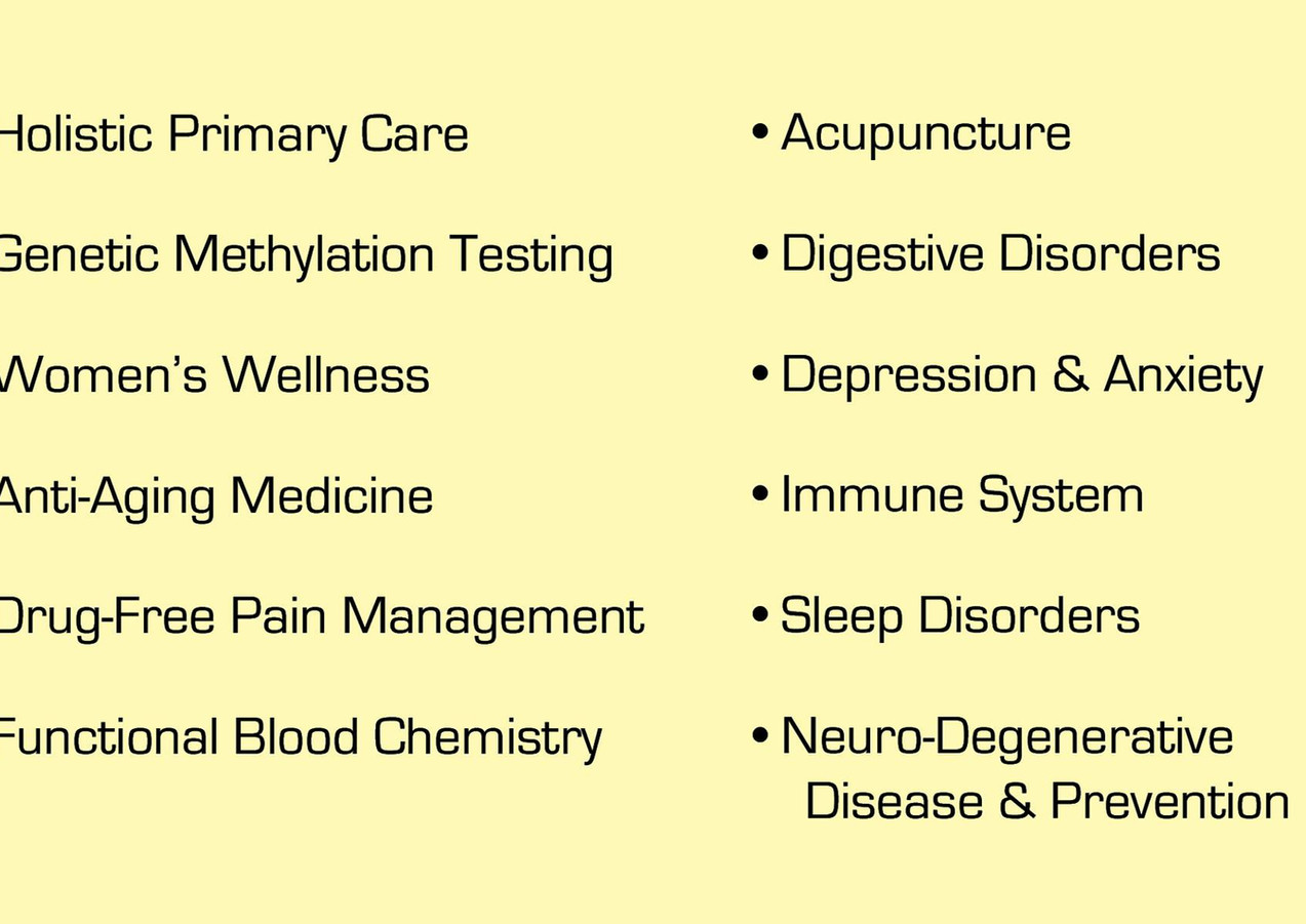 Natural Primary Care Offerings