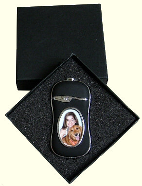 Personalised Refillable Gas Lighter with Light