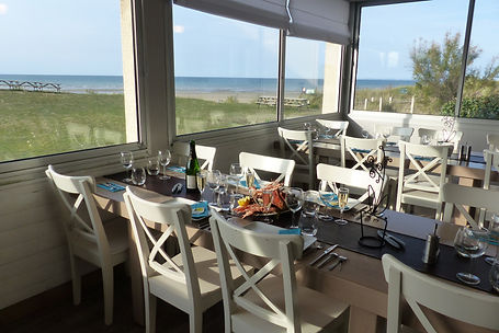 Restaurant avec vue sur mer en Normandie
