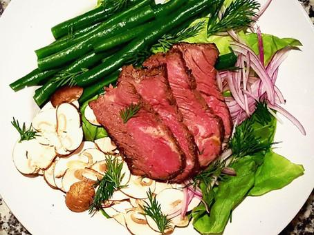 RECIPE OF THE WEEK - 3/12/18 Petite Filet with Butter Lettuce, Crisp Veggies and Dijon Vinaigrette