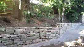 Local stone walling from Cusop