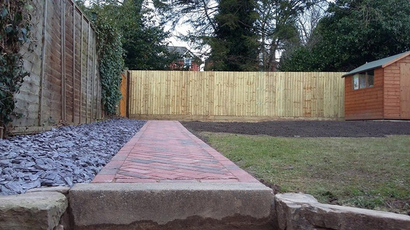 Pathway boarder and fencing