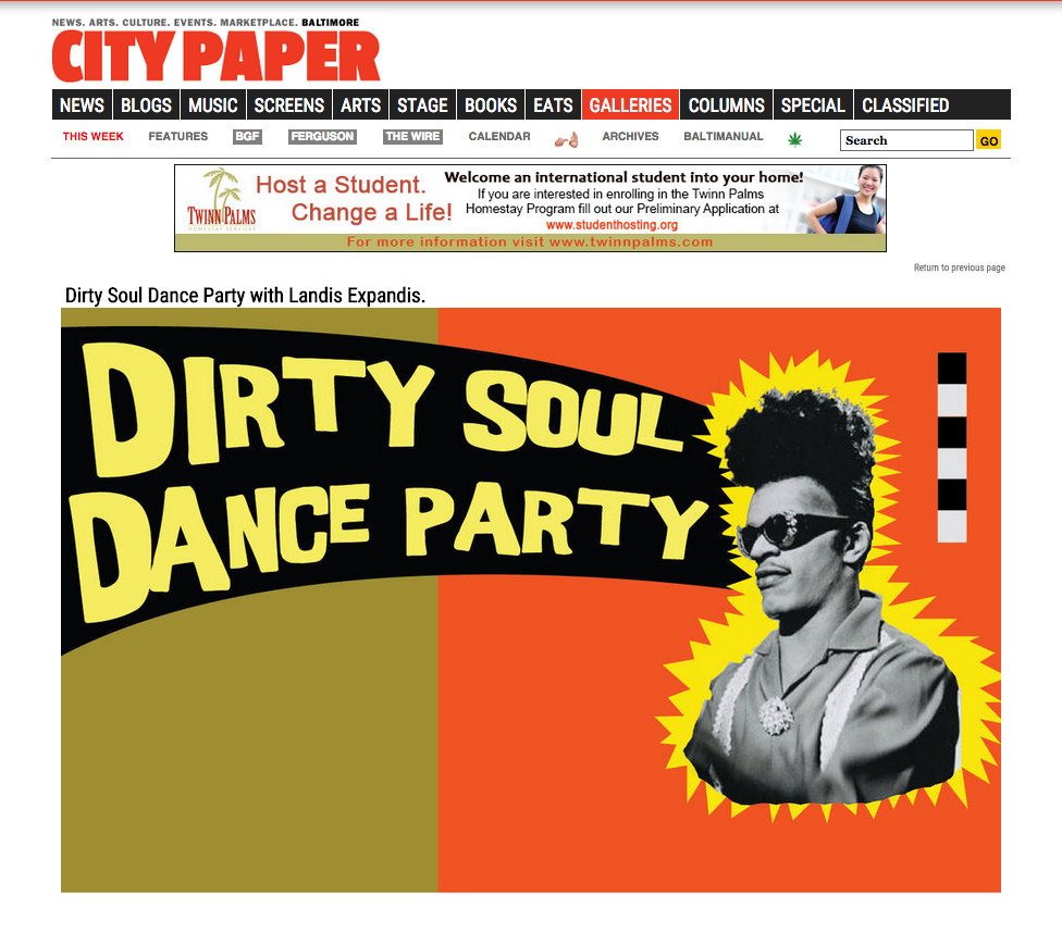 Dirty Soul Dance Party Flyer