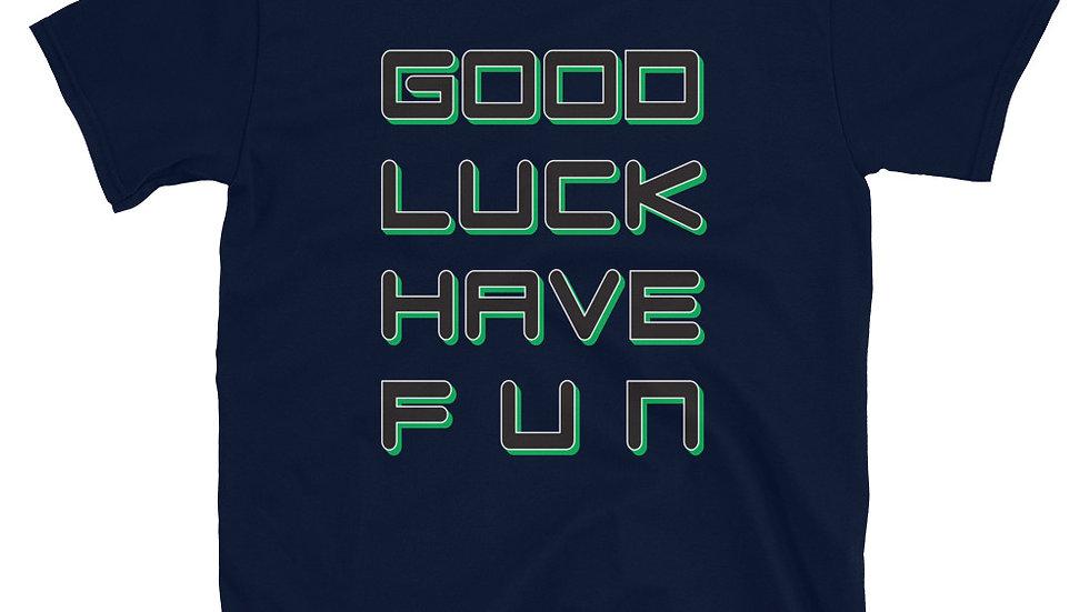 "T-Shirt Unisex Gaming Chat ""GL;HF"""