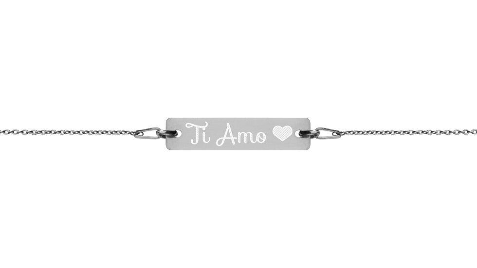 """Bracciale in argento """"Ti Amo"""" Personalizzato"""