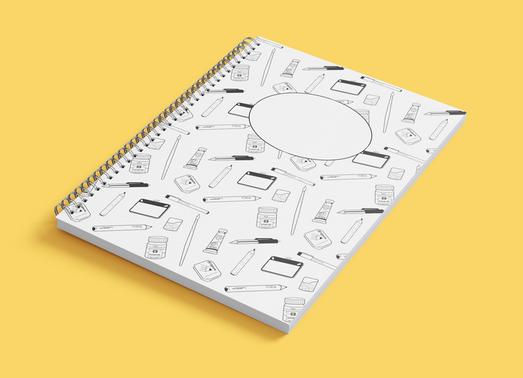 illustratie concept - patroon notitieboe