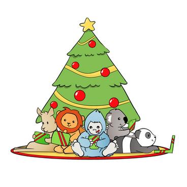 Kerstkaart illustratie