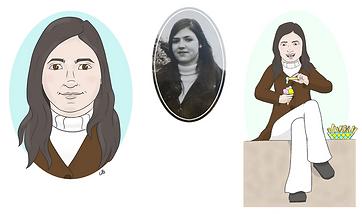 Portret en herinnering tekening